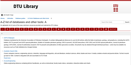 Other search tools